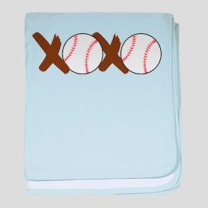 XOXO baby blanket