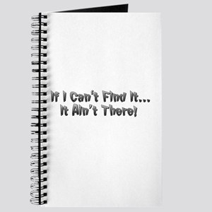 If I cant Find it...It Aint There! Journal