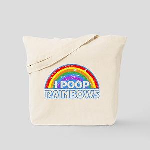 I Poop Rainbows Tote Bag