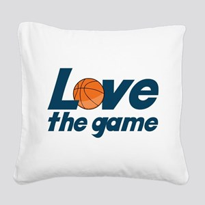 Love The Game Square Canvas Pillow