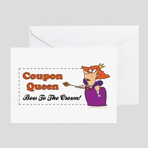 COUPON QUEEN Greeting Card
