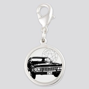 Impala with devils trap Silver Round Charm
