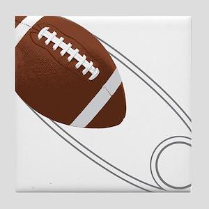 Football Diaper Pin Tile Coaster