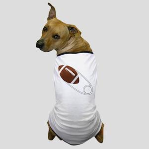Football Diaper Pin Dog T-Shirt