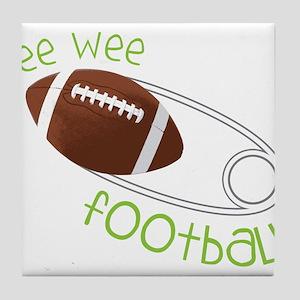 Pee Wee Football Tile Coaster