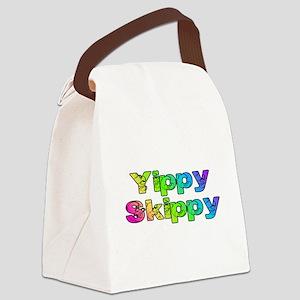 Yippy Skippy (rainbow swirl) Canvas Lunch Bag