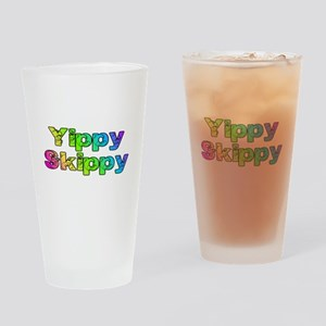 Yippy Skippy (rainbow swirl) Drinking Glass