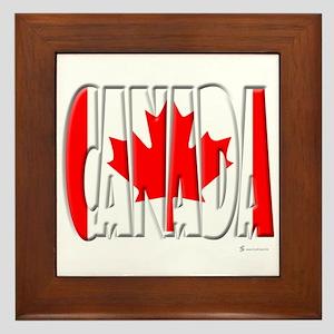Word Art Flag of Canada Framed Tile