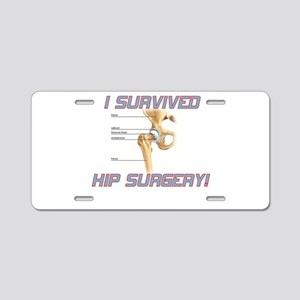 Hip Surgery Aluminum License Plate