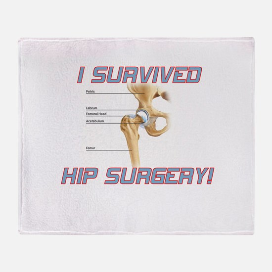 Hip Surgery Throw Blanket