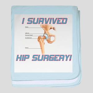 Hip Surgery baby blanket