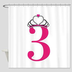 Third Birthday Princess Shower Curtain