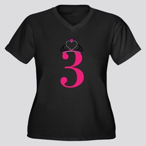 Third Birthday Princess Women's Plus Size V-Neck D