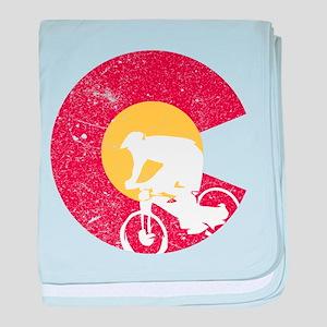 Mountain Bike Colorado baby blanket