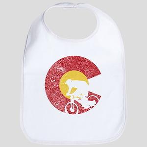 Mountain Bike Colorado Baby Bib