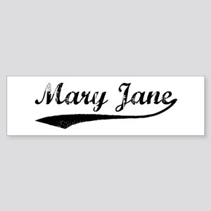 Vintage: Mary Jane Bumper Sticker