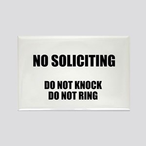 NO SOLICITING GO AWAY Rectangle Magnet