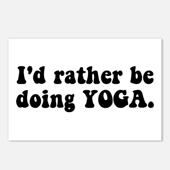 I'd Rather Be Doing Yoga Postcards (Package of 8)