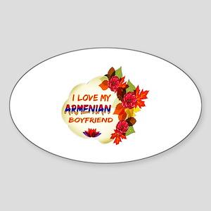 Armenian Boyfriend designs Sticker (Oval)
