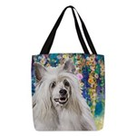 Chinese Crested Painting Polyester Tote Bag