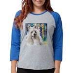 Chinese Crested Painting Womens Baseball Tee