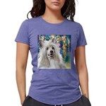 Chinese Crested Painting Womens Tri-blend T-Shirt