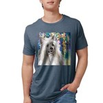 Chinese Crested Painting Mens Tri-blend T-Shirt