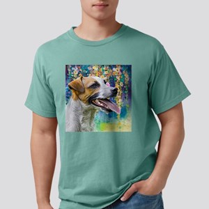 Jack Russell Terrier Painting Mens Comfort Colors