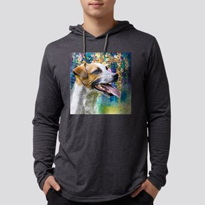 Jack Russell Terrier Painting Mens Hooded Shirt