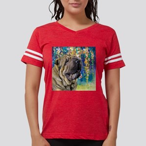 Shar Pei Painting Womens Football Shirt