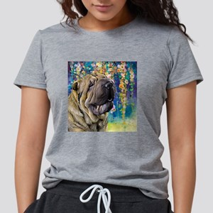 Shar Pei Painting Womens Tri-blend T-Shirt