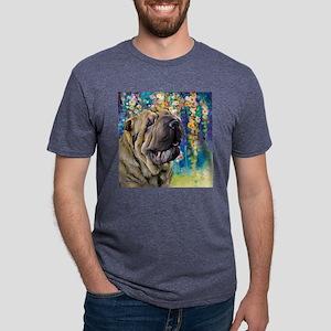 Shar Pei Painting Mens Tri-blend T-Shirt