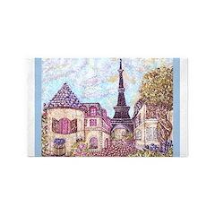 Paris Inspired Landscape Pointillism with Eiffel T