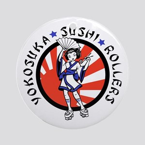 Sushi Rollers Ornament (Round)