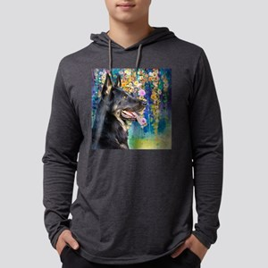 German Shepherd Painting Mens Hooded Shirt