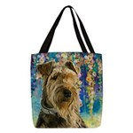Airedale Painting Polyester Tote Bag