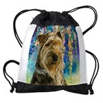 Airedale Painting Drawstring Bag