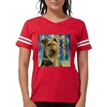 Airedale Painting Womens Football Shirt