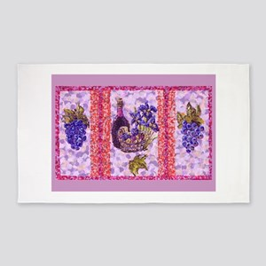 Grapes and Wine Pointillism with Irises and Basket
