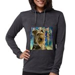 Airedale Painting Womens Hooded Shirt