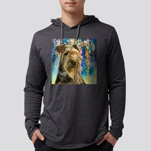 Airedale Painting Mens Hooded Shirt