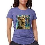 Airedale Painting Womens Tri-blend T-Shirt