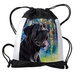 Cane Corso Painting Drawstring Bag