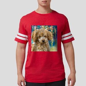 Poodle Painting Mens Football Shirt