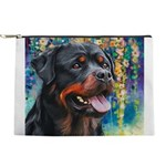 Rottweiler Painting Makeup Pouch