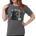 Rottweiler Painting Womens Comfort Colors Shirt
