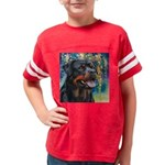 Rottweiler Painting Youth Football Shirt