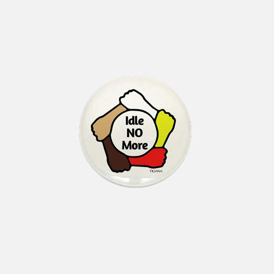Idle No More - Five Hands Mini Button