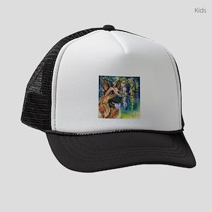 German Shepherd Painting Kids Trucker hat
