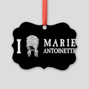 I Love (Wig) Marie Antoinette Picture Ornament